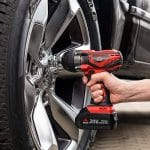Cordless Impact Wrench While Removing Tire